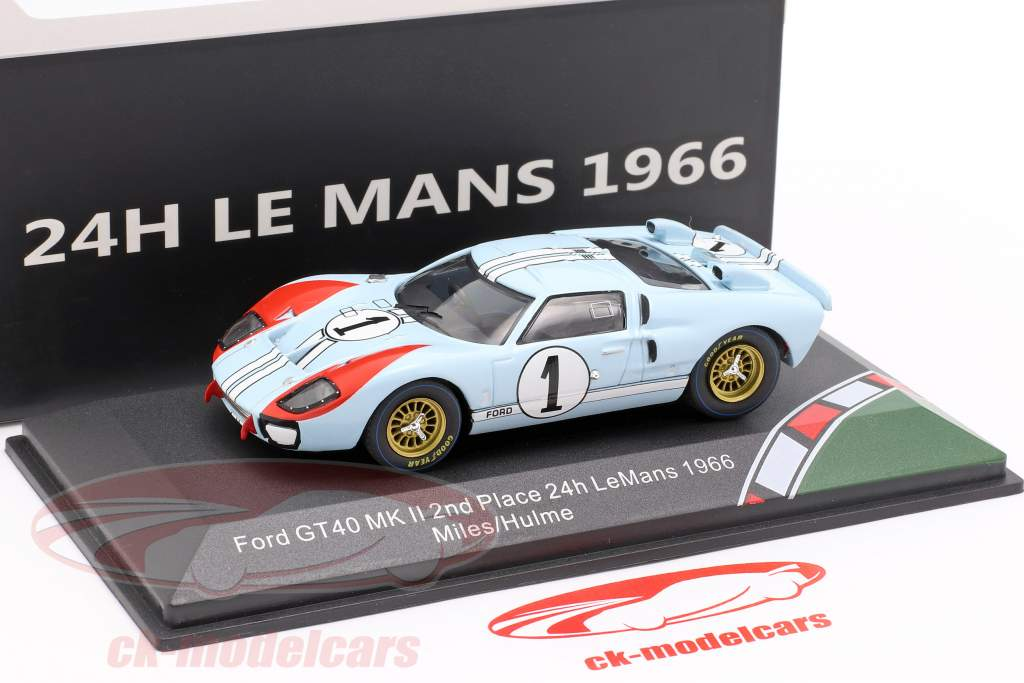 Ford GT40 MK II #1 2º 24h LeMans 1966 Miles, Hulme 1:43 CMR