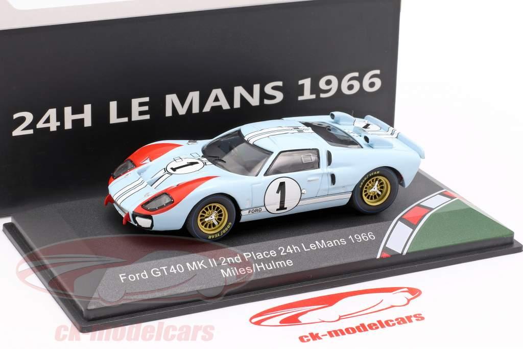 Ford GT40 Gulf #9 Winner Le Mans 1968-1:43 Spark Hachette Model Car 04