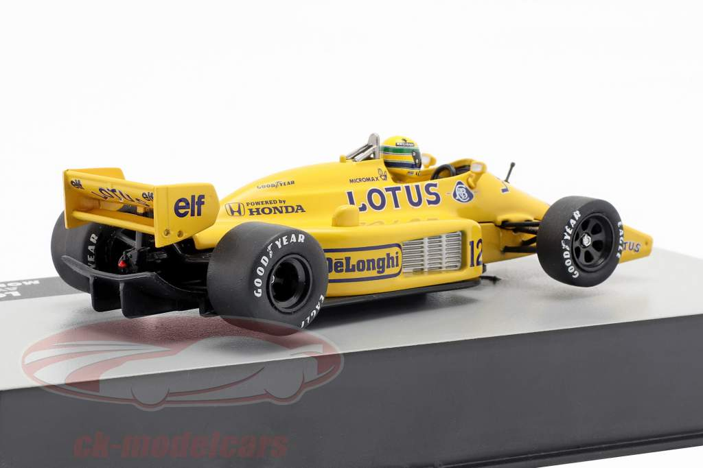 Ayrton Senna Lotus 99T #12 winnaar Monaco GP formule 1 1987 1:43 Altaya