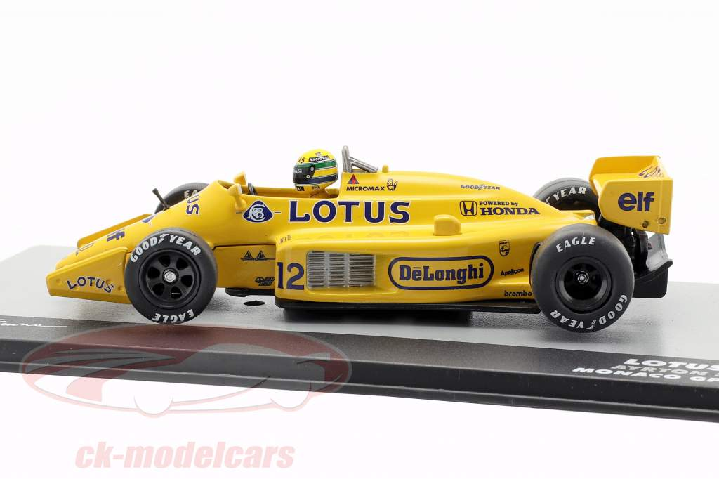 Ayrton Senna Lotus 99T #12 gagnant Monaco GP formule 1 1987 1:43 Altaya