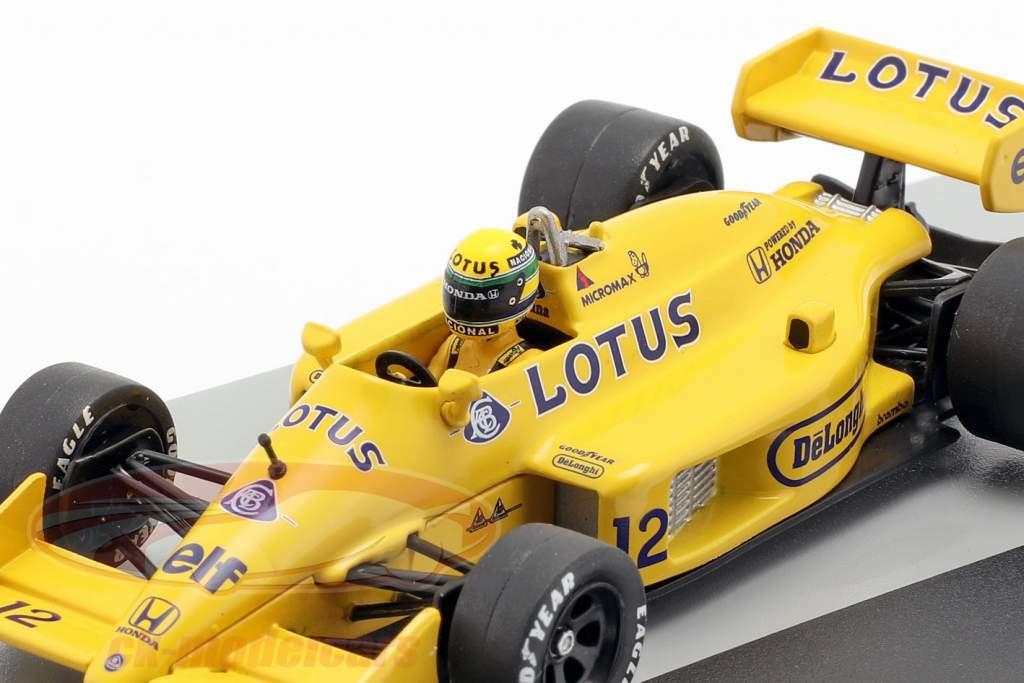 Ayrton Senna Lotus 99T #12 ganador Mónaco GP fórmula 1 1987 1:43 Altaya