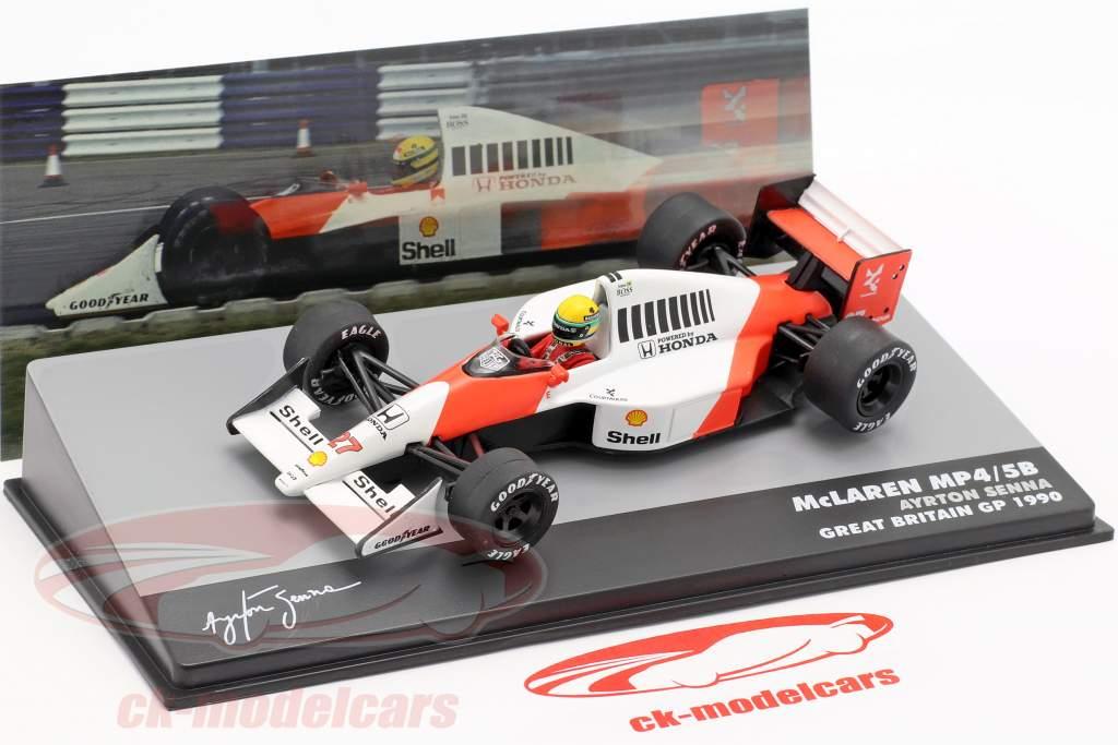 A. Senna McLaren MP4/5B #27 campeão do mundo britânico GP fórmula 1 1990 1:43 Altaya