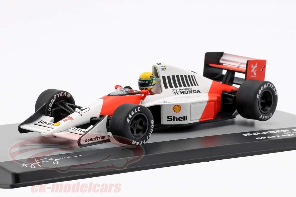 A. Senna McLaren MP4/5B #27 Weltmeister Großbritannien GP Formel 1 1990 1:43 Altaya