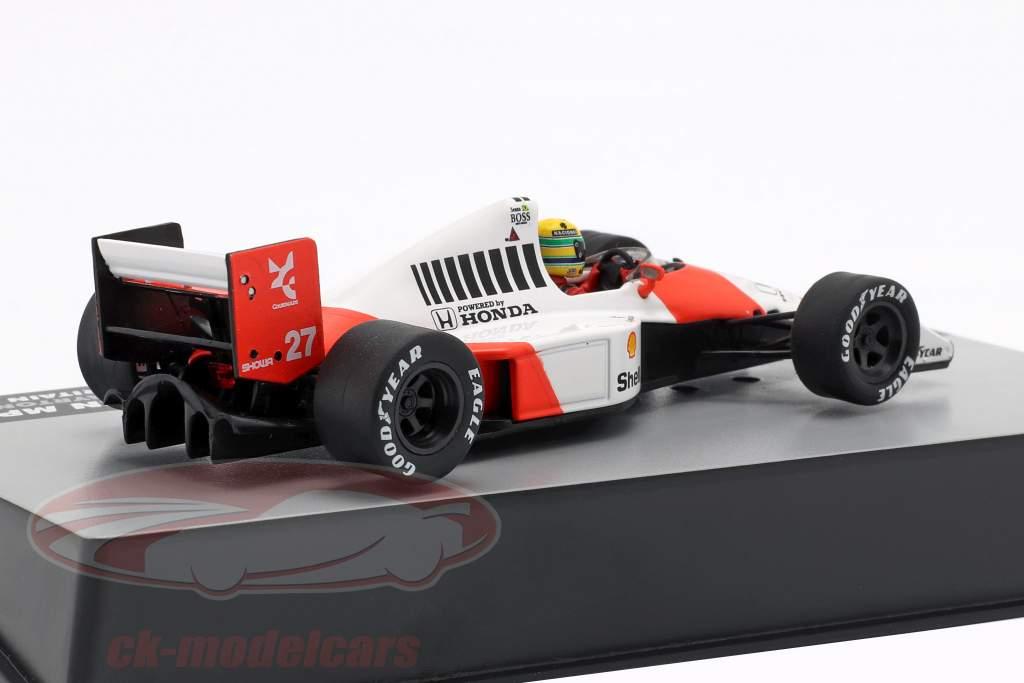 A. Senna McLaren MP4/5B #27 campione del mondo britannico GP formula 1 1990 1:43 Altaya