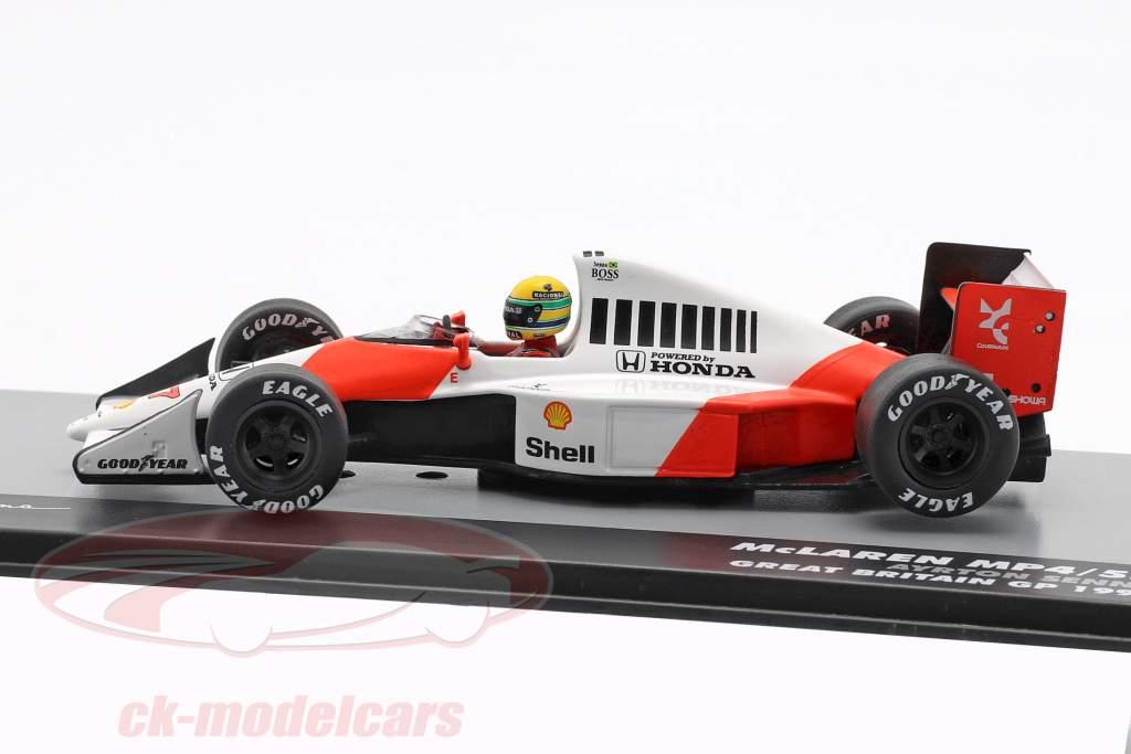A. Senna McLaren MP4/5B #27 verdensmester britisk GP formel 1 1990 1:43 Altaya