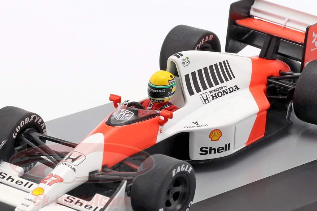 A. Senna McLaren MP4/5B #27 champion du monde britannique GP formule 1 1990 1:43 Altaya