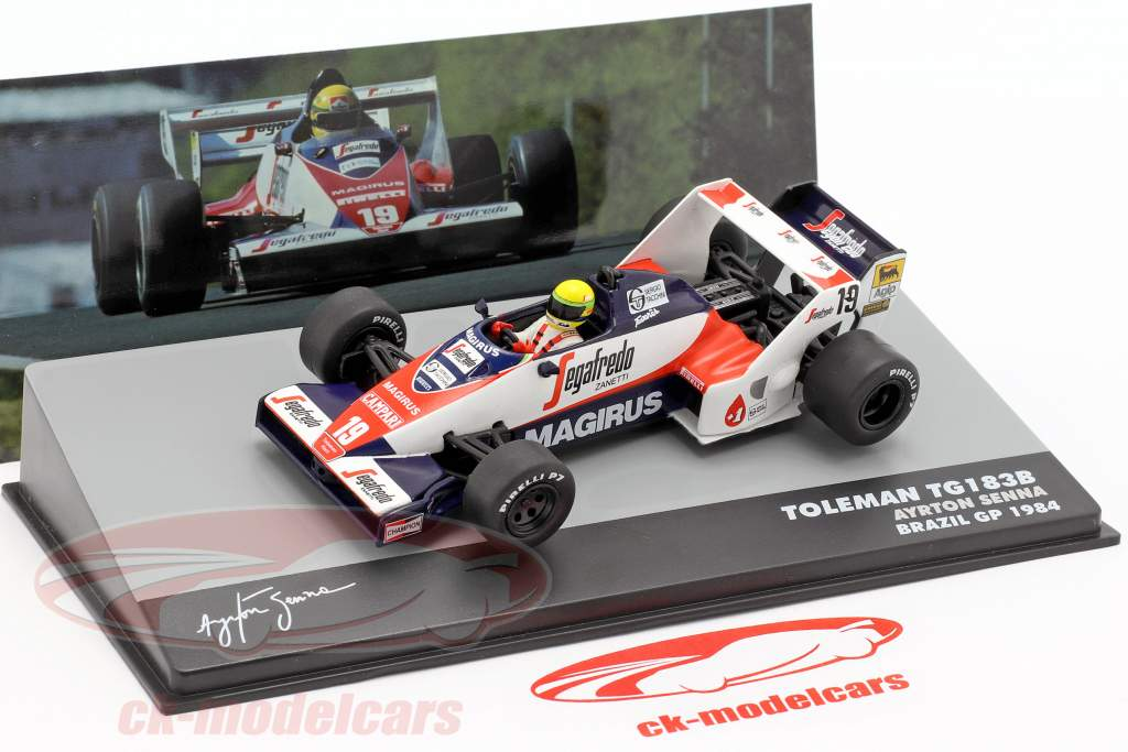 Ayrton Senna Toleman TG183B #19 Brasil GP fórmula 1 1984 1:43 Altaya