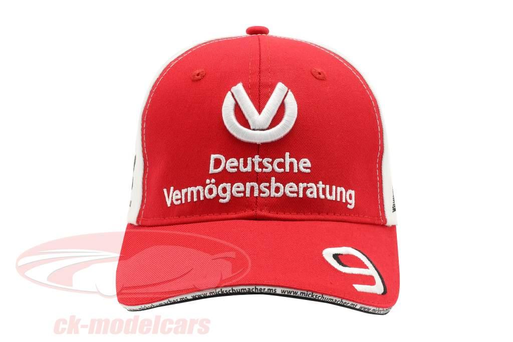 Mick Schumacher Cap #9 formula 2 2019 rosso / bianco