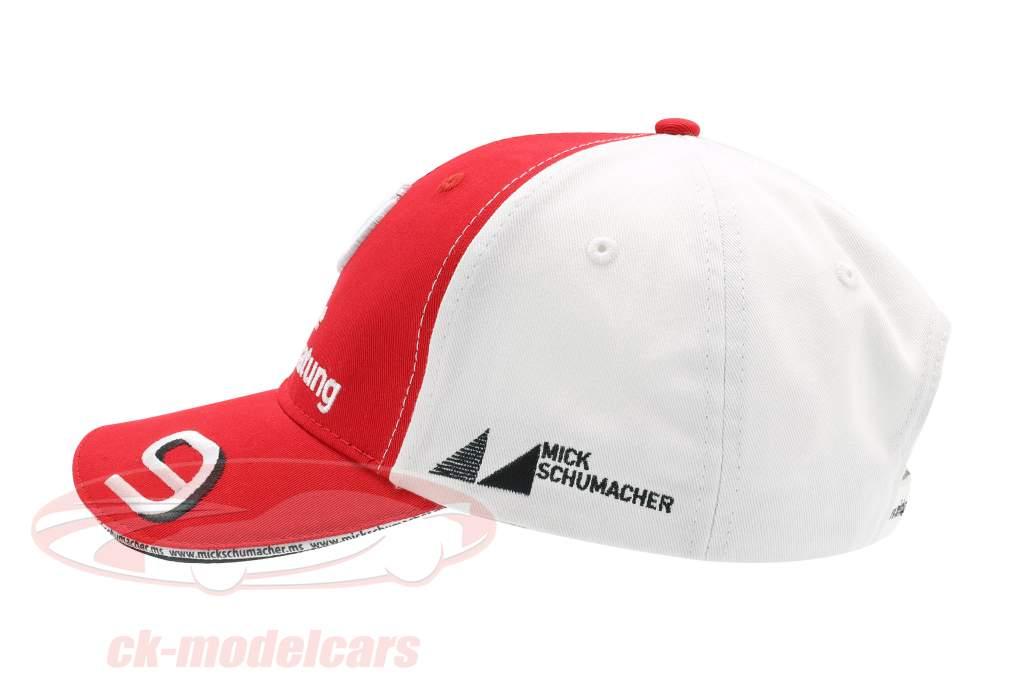 Mick Schumacher Cap #9 fórmula 2 2019 vermelho / branco