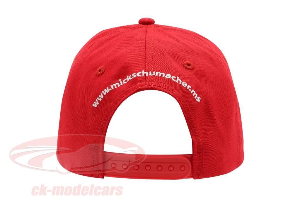Mick Schumacher Cap #4 formule 3 champion 2018 rouge / blanc