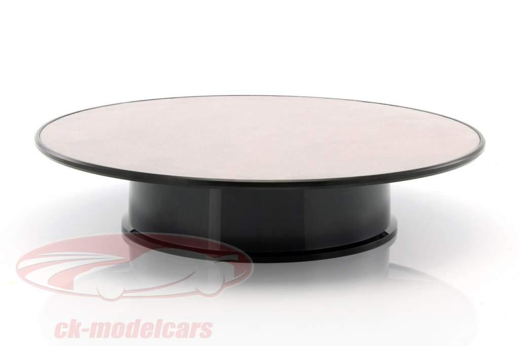 Drehteller Durchmesser ca. 25,5 cm für Modellautos Maßstab 1:18 silber AUTOart