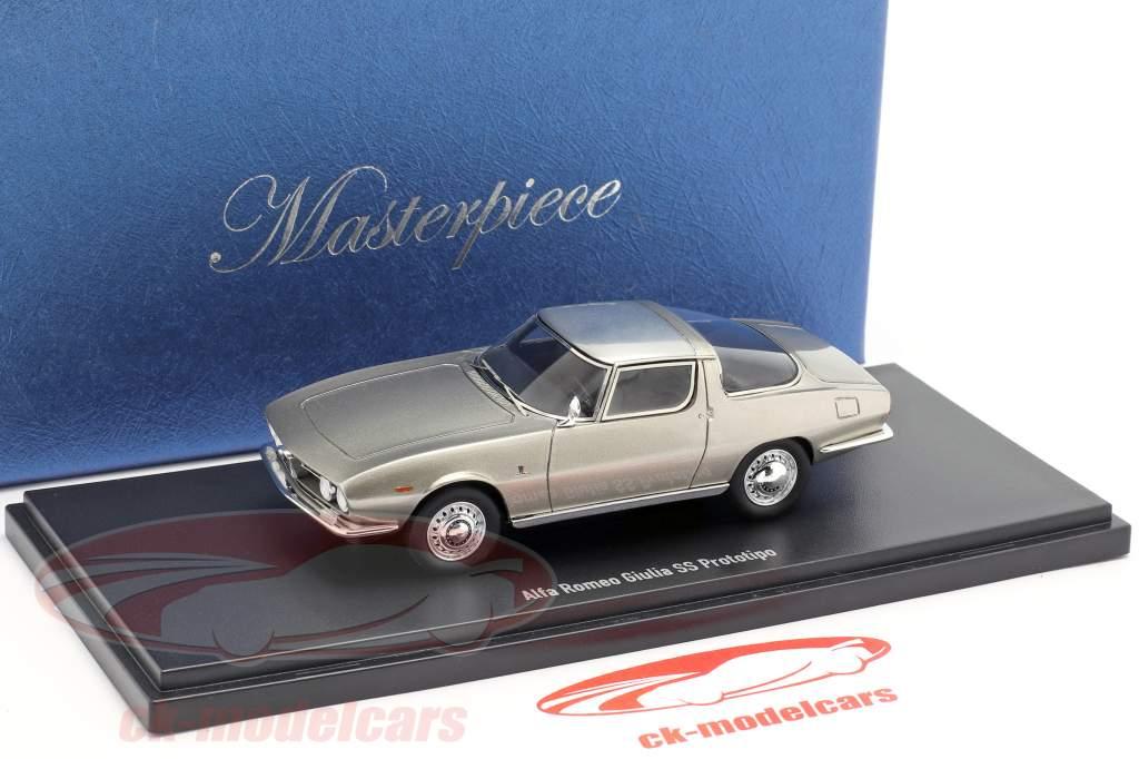 Alfa Romeo Giulia SS Prototipo Bertone costruita nel 1965 in argento 1:43 AutoCult