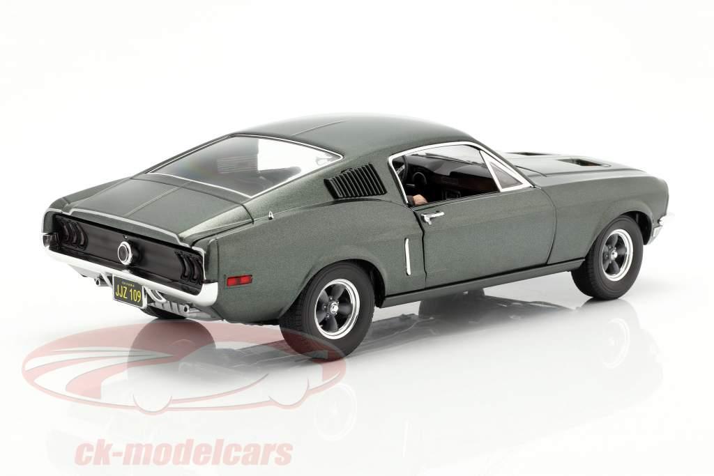 Ford Mustang GT Film Bullitt 1968 mit Figur grün 1:18 Greenlight