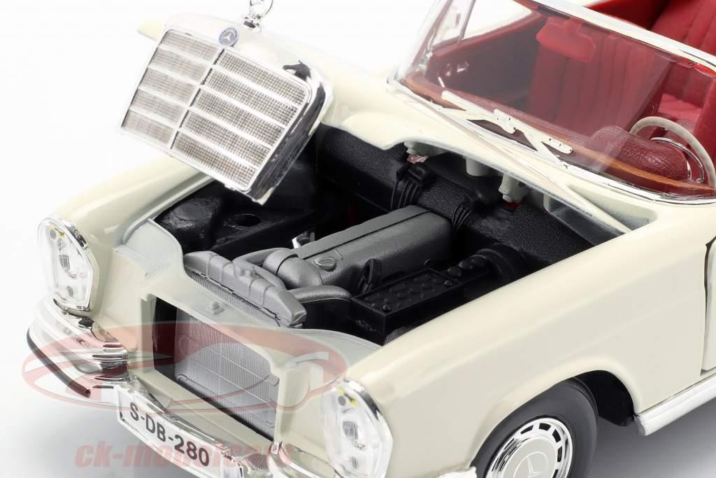 Mercedes-Benz 280 SE Baujahr 1967 cremeweiß 1:18 Maisto