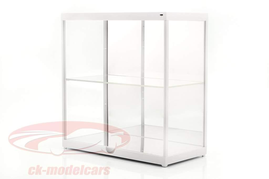 dubbele showcase met LED-verlichting voor modelauto's in schaal 1:18 wit Triple9