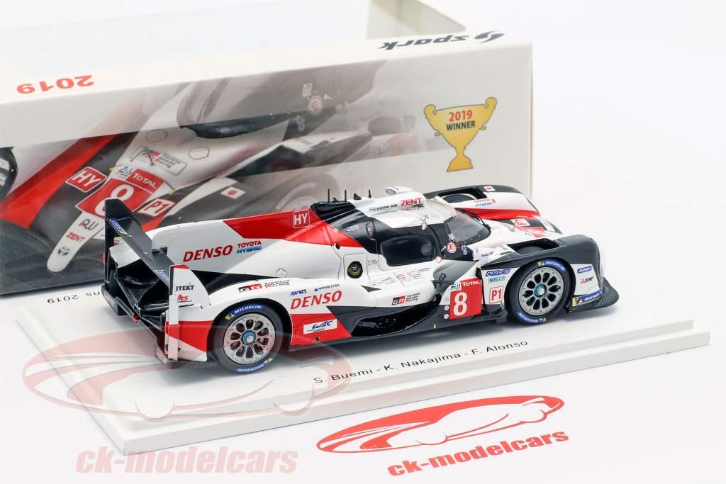 Toyota TS050 Hybrid #8 ganador 24h LeMans 2019 Buemi, Nakajima, Alonso 1:43 Spark