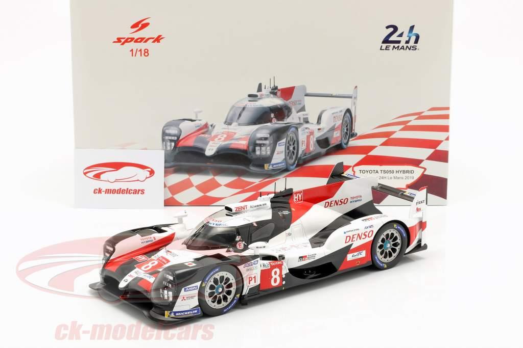 Toyota TS050 Hybrid #8 winnaar 24h LeMans 2019 Buemi, Nakajima, Alonso 1:18 Spark