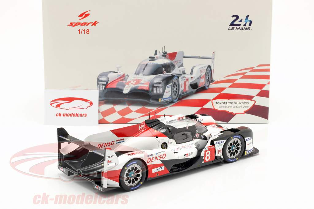 Toyota TS050 Hybrid #8 vincitore 24h LeMans 2019 Buemi, Nakajima, Alonso 1:18 Spark