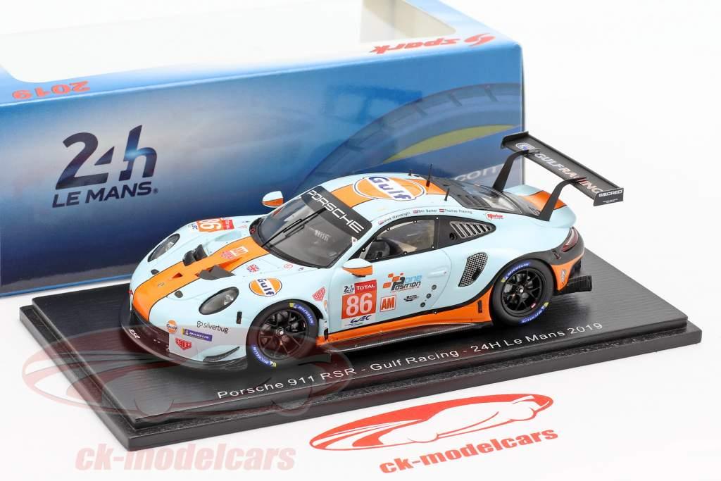 Porsche 911 RSR #86 24h LeMans 2019 Gulf Racing 1:43 Spark