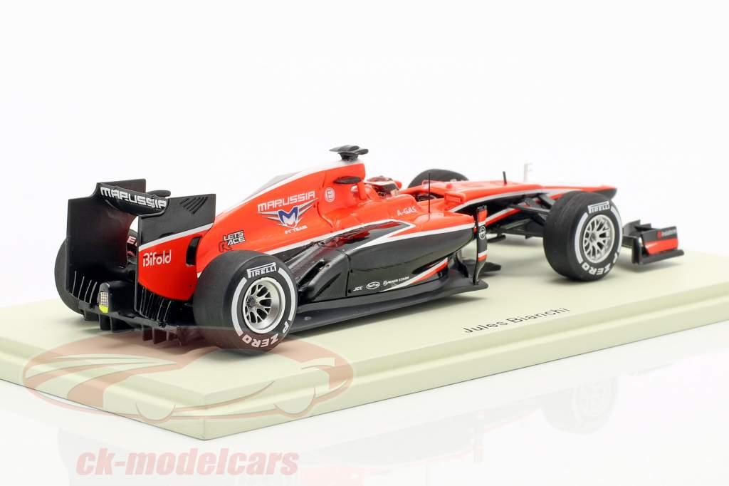Jules Bianchi Marussia MR02 #22 Malaisie GP formule 1 2013 1:43 Spark