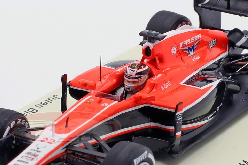 Jules Bianchi Marussia MR02 #22 Malasia GP fórmula 1 2013 1:43 Spark