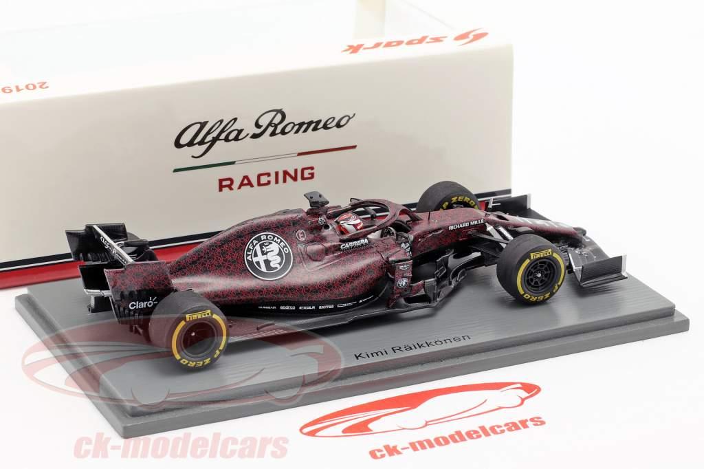 Kimi Räikkönen Alfa Romeo Racing C38 Fiorano Shakedown F1 2019 1:43 Spark