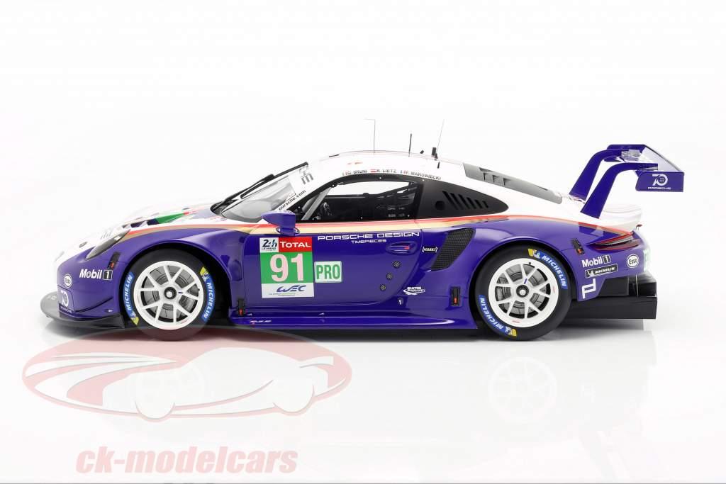 Porsche 911 (991) GT3 RSR #91 segundo LMGTE Pro 24h LeMans 2018 1:12 Spark
