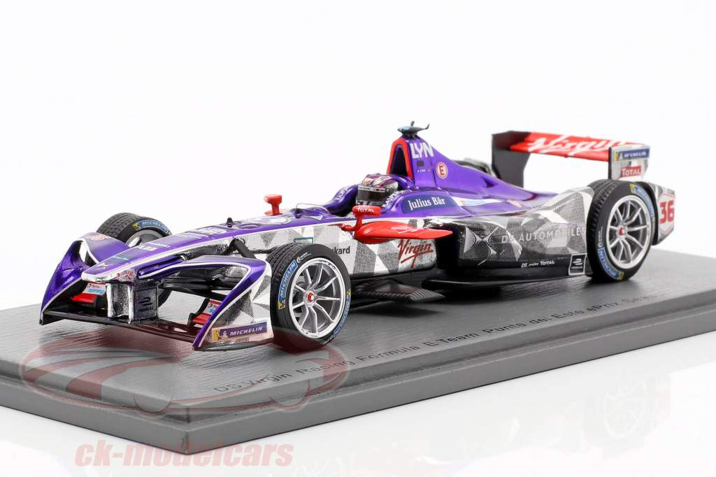 Alex Lynn DS Virgin DSV-03 #36 Punta del Este ePrix fórmula E 2017/18 1:43 Spark