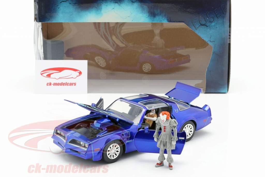 Henry Bower's Pontiac Firebird Movie It (2017) with figure Pennywise 1:24 Jada Toys