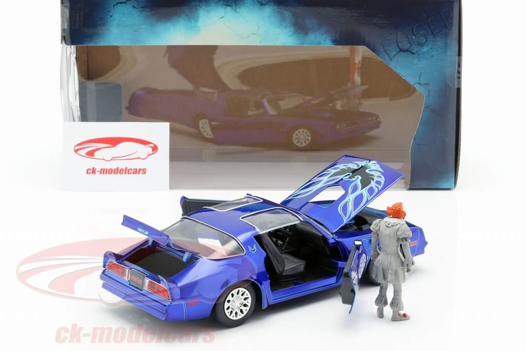 Henry Bower's Pontiac Firebird filme It (2017) com figura Pennywise 1:24 Jada Toys
