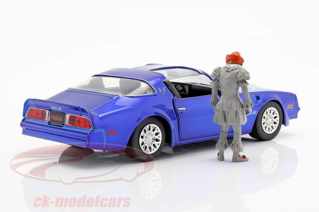 Henry Bower's Pontiac Firebird film It (2017) avec figure Pennywise 1:24 Jada Toys