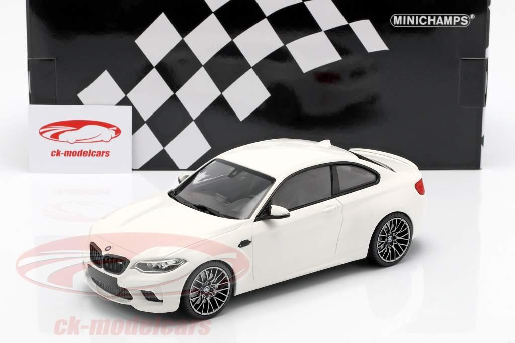 BMW M2 Competition ano de construção 2019 branco 1:18 Minichamps