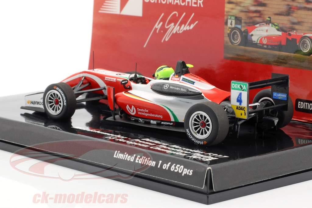 Mick Schumacher Dallara F317 #4 fórmula 3 campeón 2018 1:43 Minichamps