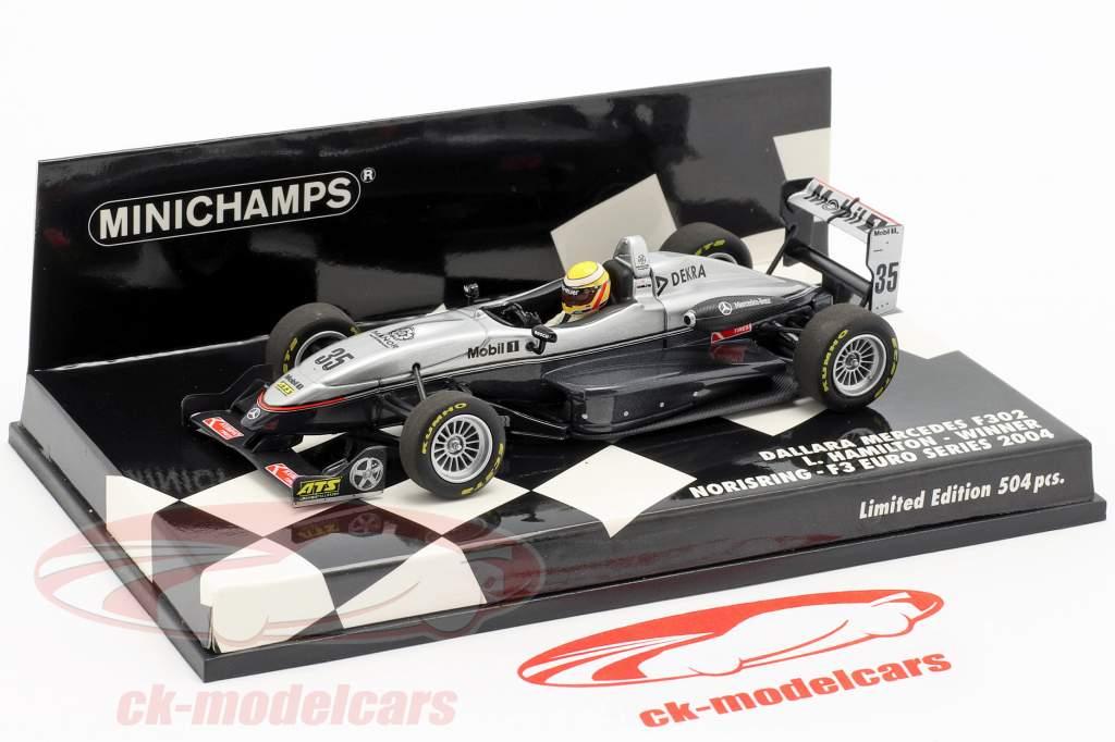 L. Hamilton Dallara F302 #35 winnaar Norisring F3 Euro Series 2004 1:43 Minichamps