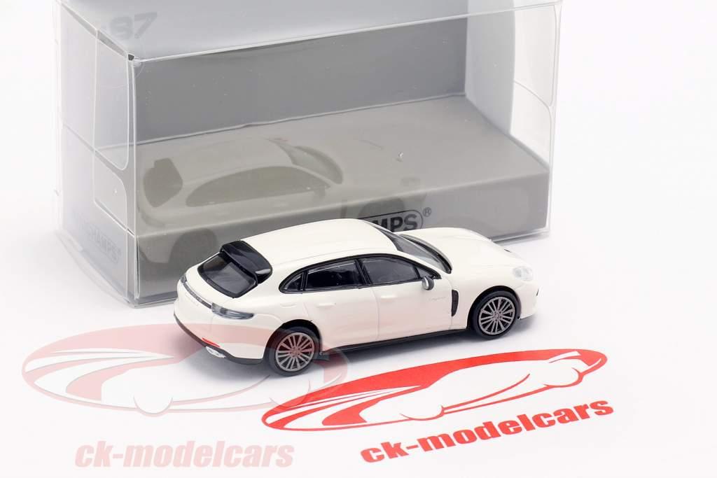 Porsche Panamera Turbo S E-Hybrid Sport Turismo 2017 branco 1:87 Minichamps