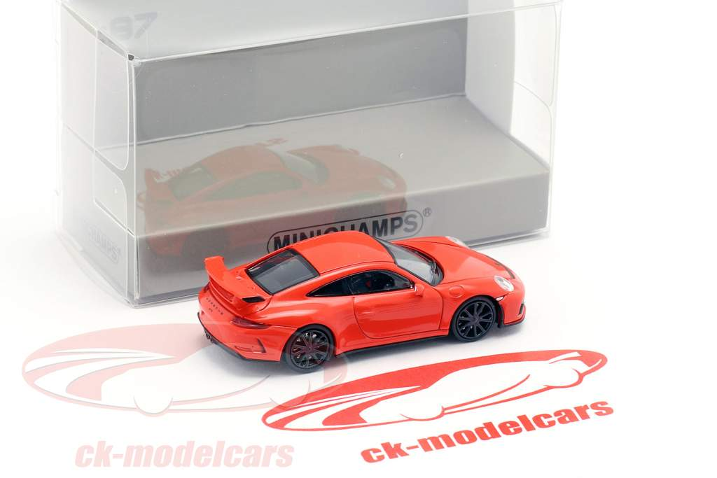 Porsche 911 GT3 anno di costruzione 2017 arancione 1:87 Minichamps