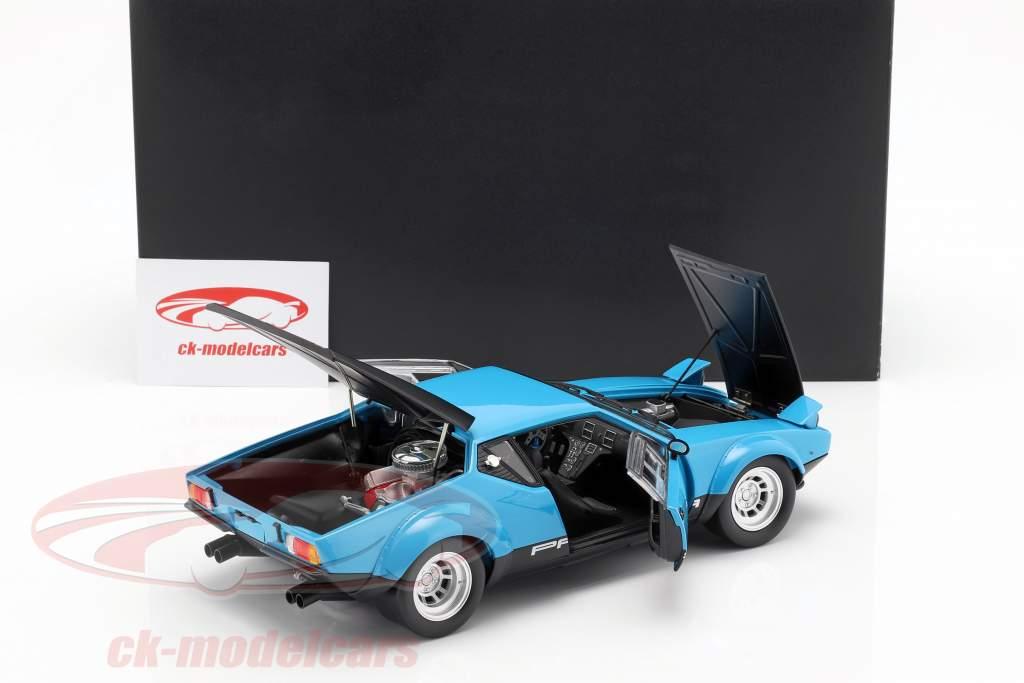 De Tomaso Pantera GT4 Baujahr 1975 blau / schwarz 1:18 Kyosho