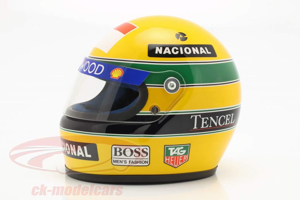 Ayrton Senna McLaren MP4/8 #8 formule 1 1993 casque 1:2