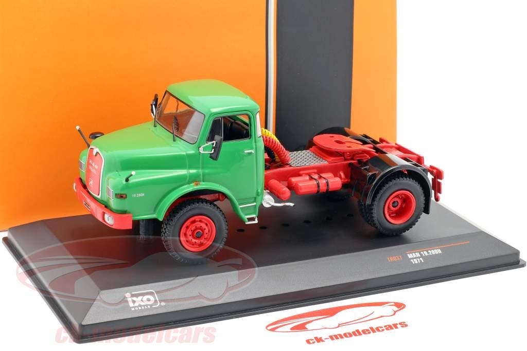MAN 19.280H lastbil Opførselsår 1971 grøn 1:43 Ixo