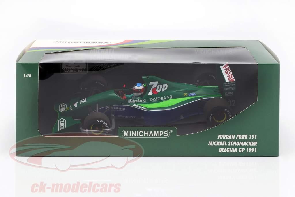 M. Schumacher Jordan 191 #32 Freies Training Belgien GP F1 1991 1:18 Minichamps