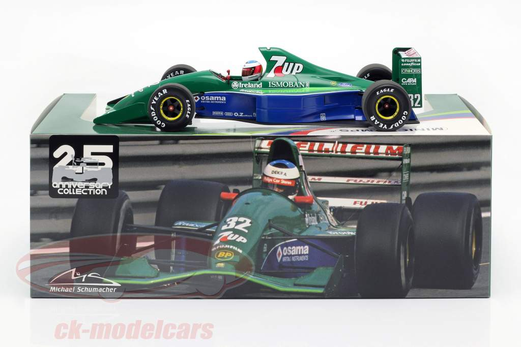 M. Schumacher Jordan 191 #32 Free Practice belga GP F1 1991 1:18 Minichamps