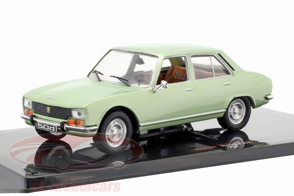 Peugeot 504 año de construcción 1969 verde metálico 1:43 Ixo