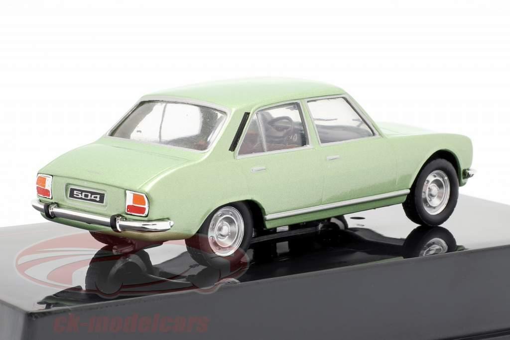 Peugeot 504 year 1969 green metallic 1:43 Ixo
