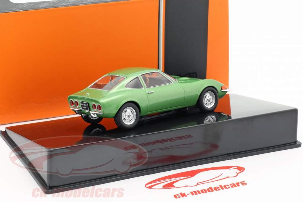 Opel GT Bouwjaar 1969 groen metalen 1:43 Ixo