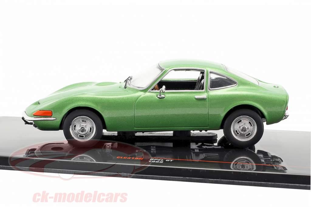 Opel GT año de construcción 1969 verde metálico 1:43 Ixo