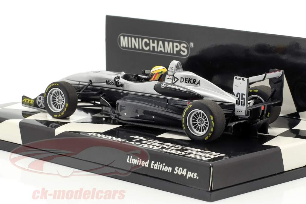L. Hamilton Dallara F302 #35 vencedor Norisring F3 Euro Series 2004 1:43 Minichamps