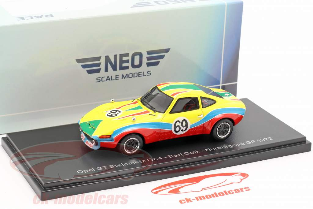 Opel GT Steinmetz Gr.4 #69 Nürburgring GP Bert Dolk 1:43 Neo