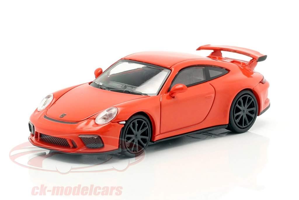 Porsche 911 GT3 año de construcción 2017 naranja 1:87 Minichamps