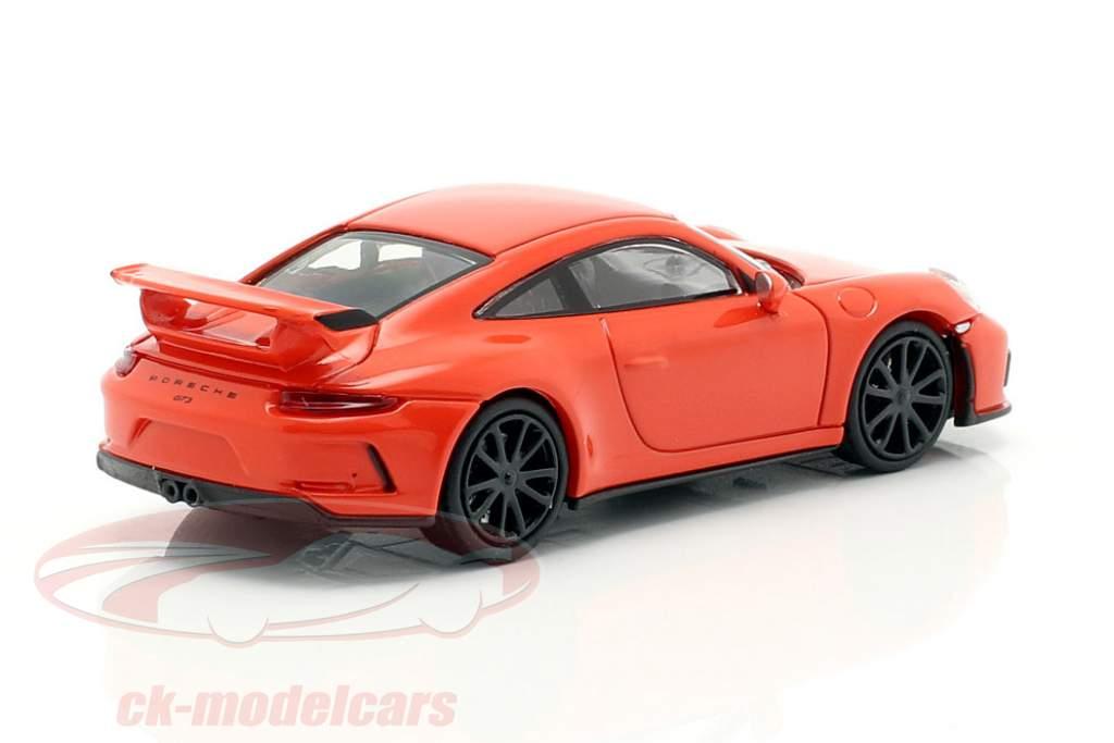 Porsche 911 GT3 ano de construção 2017 laranja 1:87 Minichamps