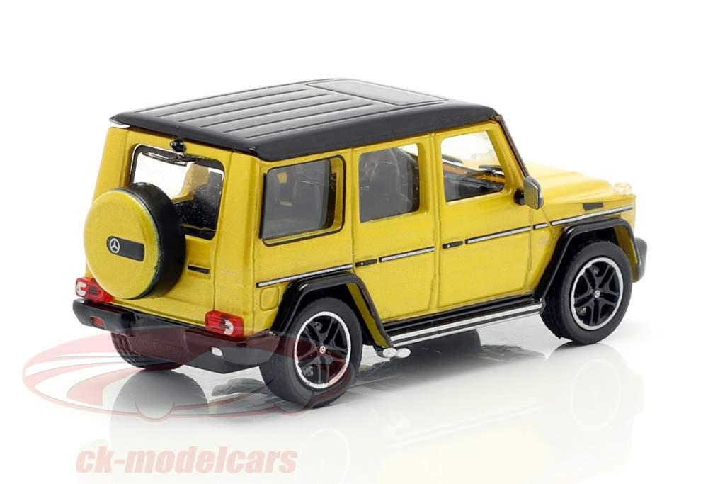 Mercedes-Benz AMG G65 ano de construção 2015 amarelo metálico 1:87 Minichamps